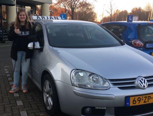 Geslaagd bij autorijschool Arjan in Tilburg